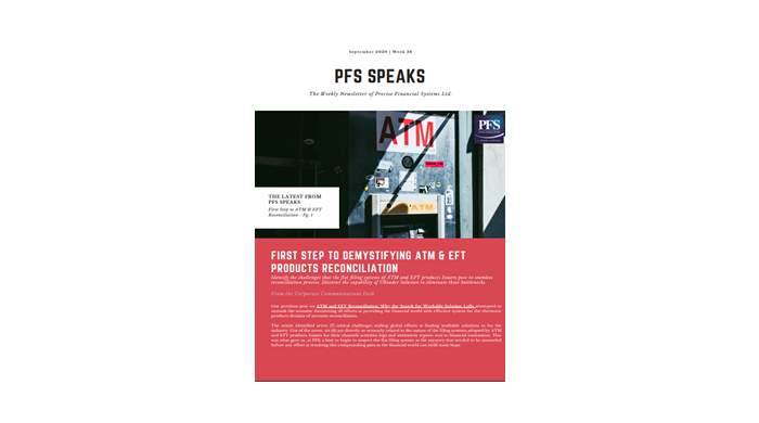 PFS Speaks: First Step To Demystifying ATM & EFT Product Reconciliation
